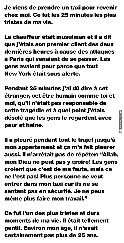 Arrêtez de juger les musulmans pour aucune raison valable