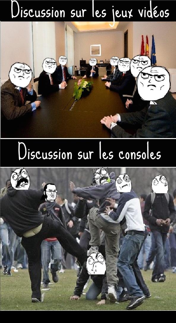 Discussion des geeks sur les jeux vs consoles!