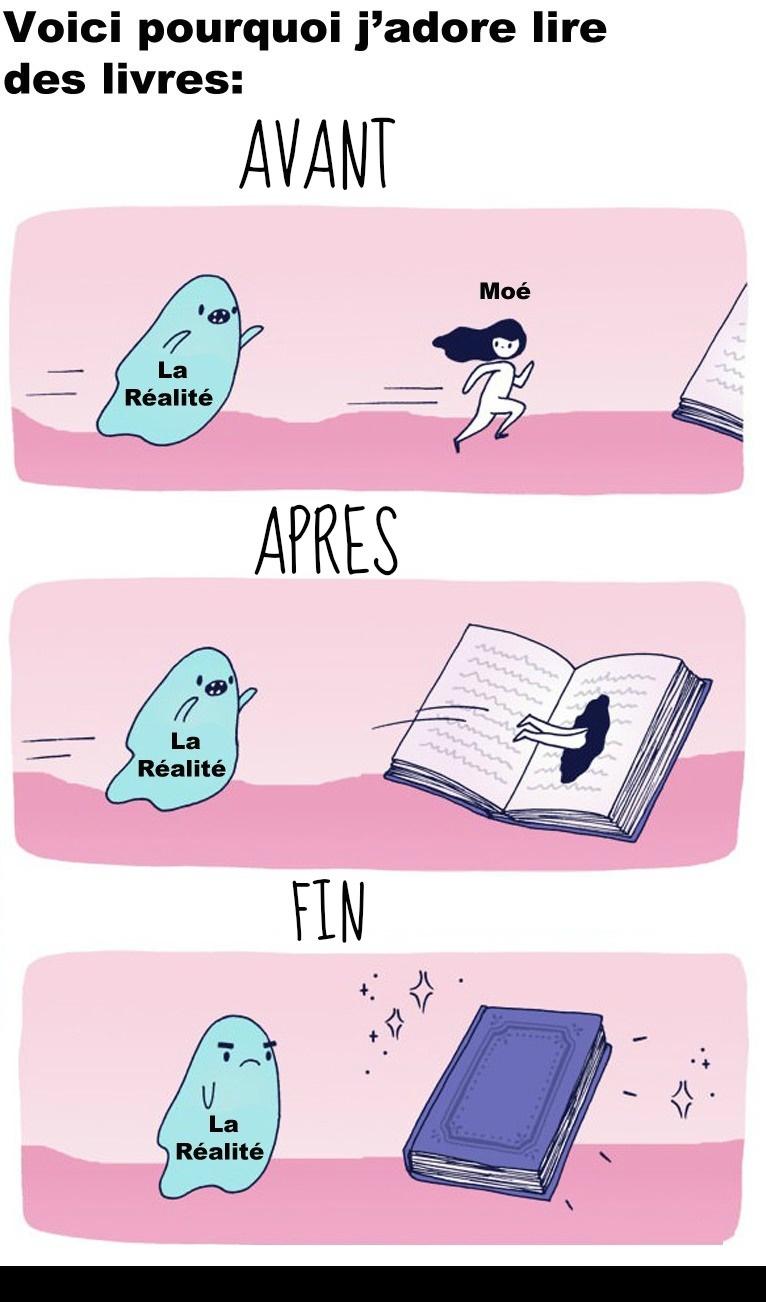 Les personnes qui aiment lire…