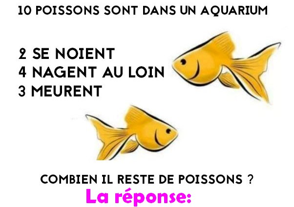 reponse poissons