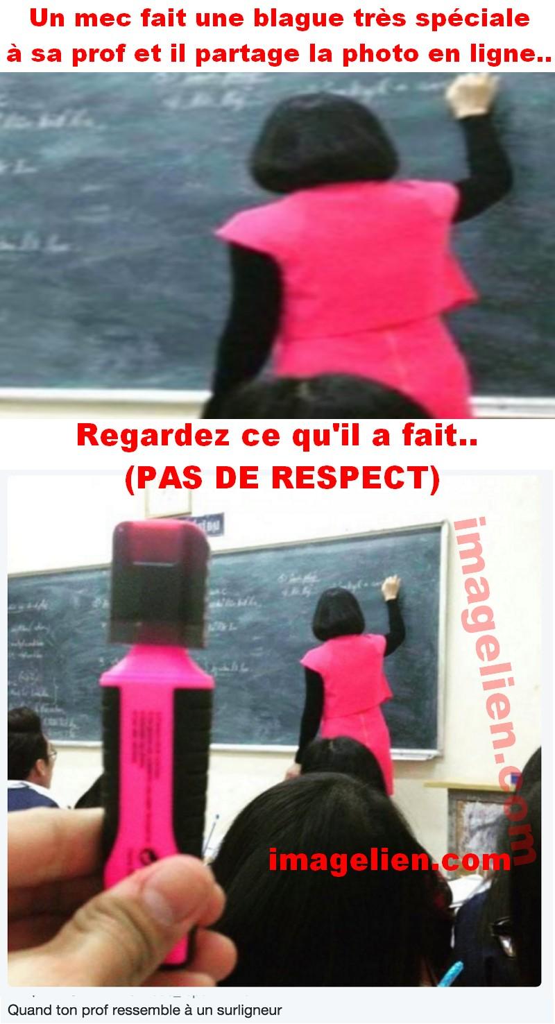 iL fait une mauvaise blague à sa prof et il partage la photo en ligne.. - Image Lien