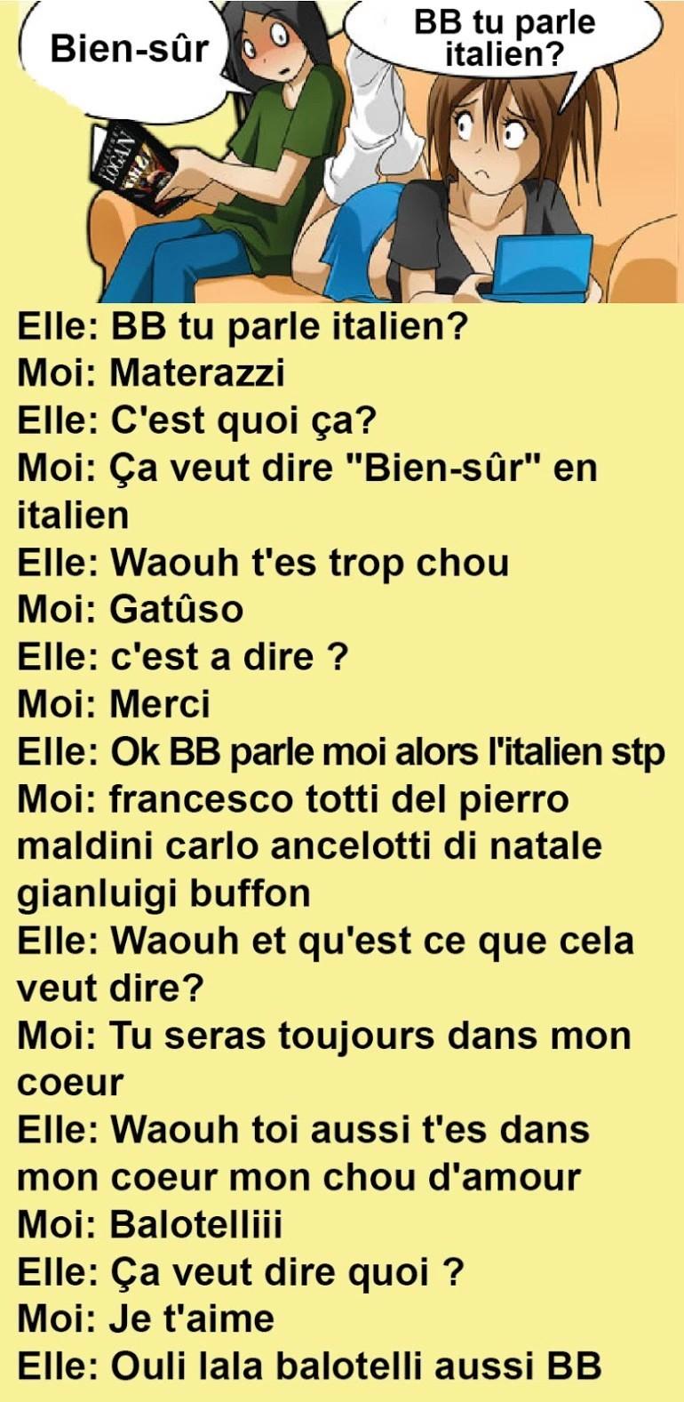 dire chérie en italien